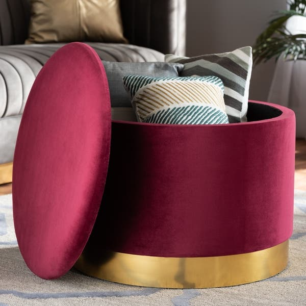Astonishing Marisa Glam And Luxe Upholstered Storage Ottoman Bralicious Painted Fabric Chair Ideas Braliciousco