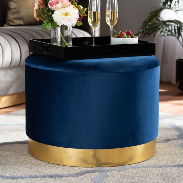 Sensational Marisa Glam And Luxe Upholstered Storage Ottoman Bralicious Painted Fabric Chair Ideas Braliciousco