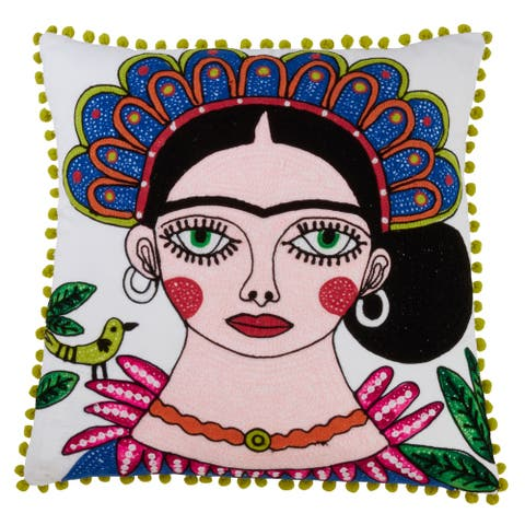 Abstract Frida Kahlo Pillow