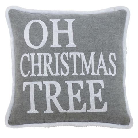 Throw Pillow with Oh Christmas Tree Design
