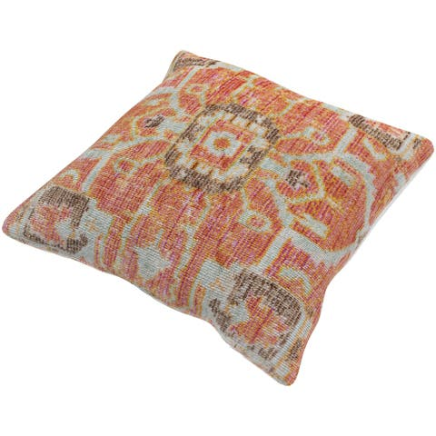 Govan Vibrant Medallion 27-inch Poly or Feather Down Throw Pillow