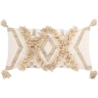 Hamel Hand Woven Boho 12x30-inch Poly or Down Lumbar Throw Pillow