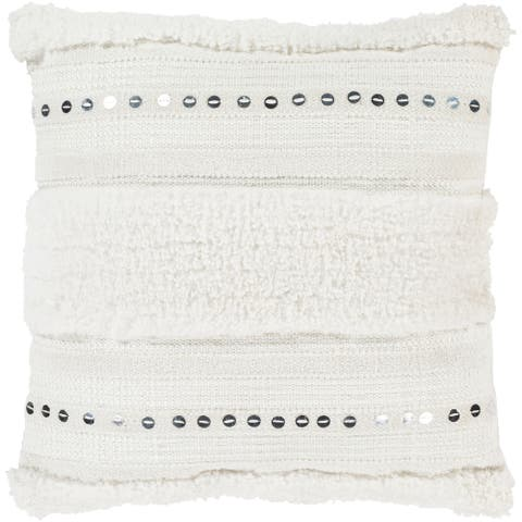 Hawi Hand Woven Bohemian 22-inch Poly or Feather Down Throw Pillow