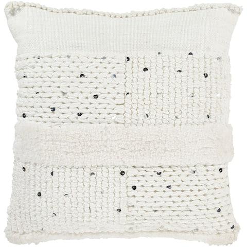 Hal Hand Woven Boho Sequin Throw Pillow Cover