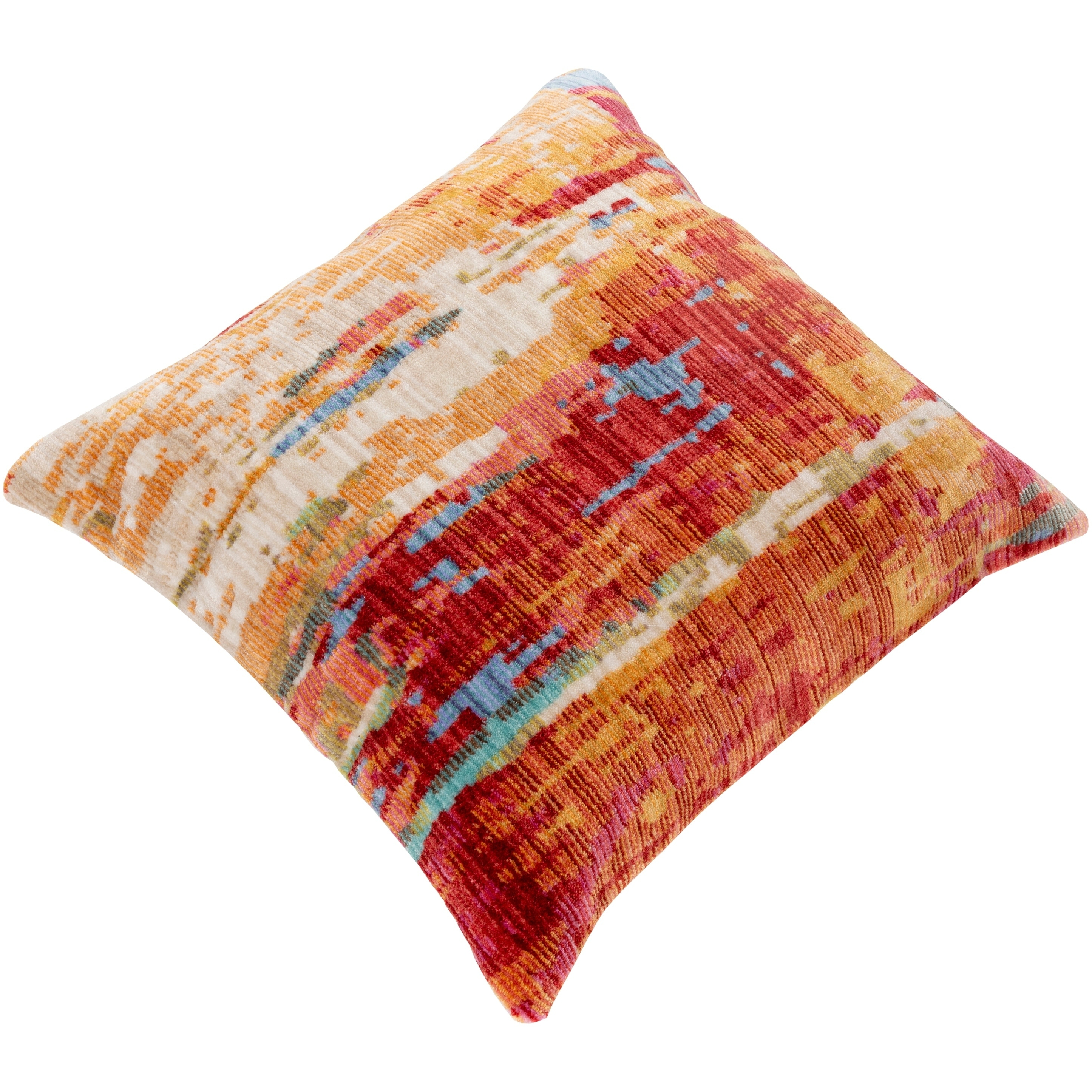 Govan Abstract 27 Inch Poly Or Feather Down Throw Pillow Overstock 29796365