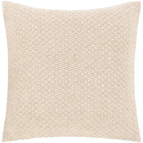 Loma Neutral Bohemian Throw Pillow Cover