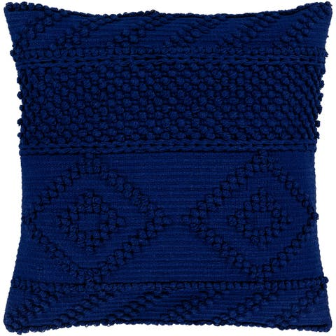Nadra Blue Bohemian 22-inch Down or Poly Filled Throw Pillow