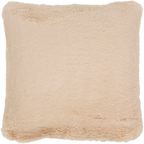 Lely Faux Fur Throw Pillow Cover
