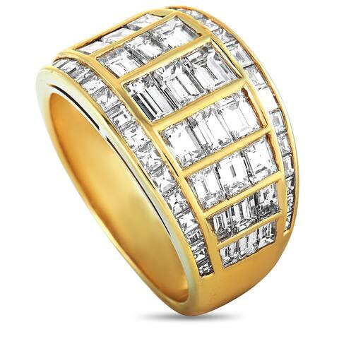 Graff Yellow Gold Diamond Band Ring Size 8.5