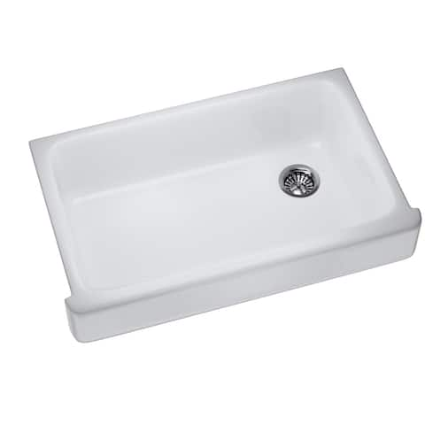 "K-6488-0 Enameled Cast Iron 35-1/2"" L x 21-9/16"" W Farmhouse/Apron Kitchen Sink"