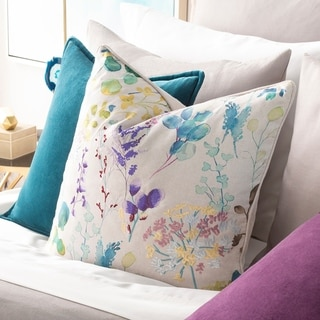 Fiore Embroidered Floral Throw Pillow Cover