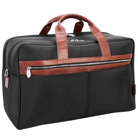 """McKlein USA Wellington 21"""" Nylon, Two-tone, Dual-Compartment, Laptop & Tablet Carry-All Duffel"""