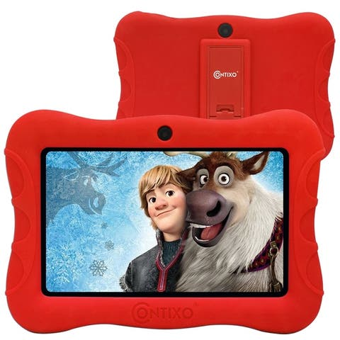 """Contixo 7"""" V9-3 Kids Tablet Android 9.0 Touch Screen Display Bluetooth Dual WiFi Camera Tablet for Kids w/Kid-Proof Case (Blue)"""