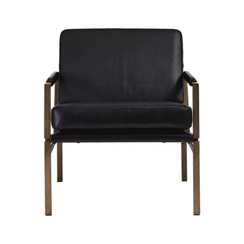 Puckman Accent Chair - Modern - Leather Upholstery