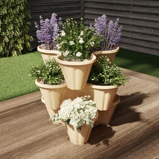 Link to Stacking Planter Tower by Pure Garden Similar Items in Planters, Hangers & Stands