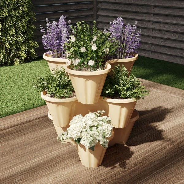 Stacking Planter Tower by Pure Garden. Opens flyout.
