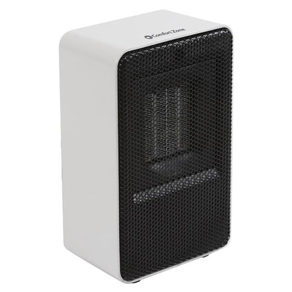 Comfort Zone CZ410WT Fan-Forced Personal Ceramic Desktop Heater