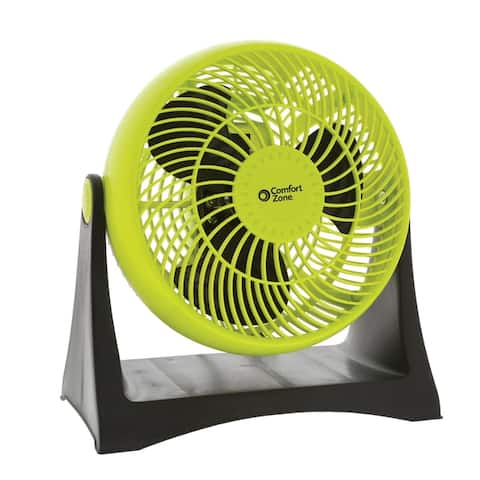 Comfort Zone 8-Inch Turbo High Velocity Fan, Lime
