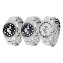 Geneva Platinum Men's Metal Link Watch