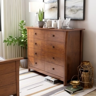 Furniture of America Nisa Transitional Cherry Solid Wood Chest