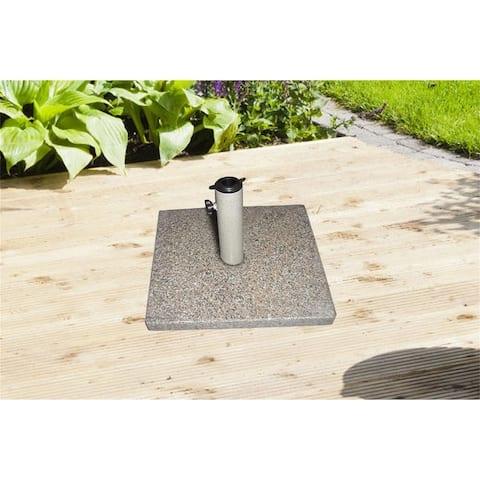 """18""""x 18"""" Outdoor Umbrella Base Square Granite Stone Umbrella Base 46 lbs Patio Garden Heavy Duty Umbrella Holder Stand"""