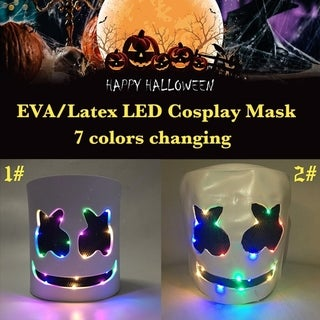 EVA/Latex LED Full DJ Mask for Cosplay Halloween Party Night Club Festival Mask DJ Mask