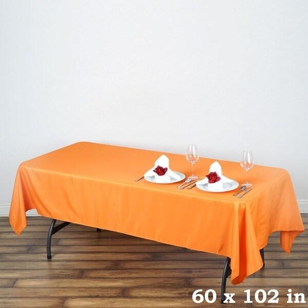 "Polyester Rectangle Wedding Tablecloth 60"" x 102"" Orange"