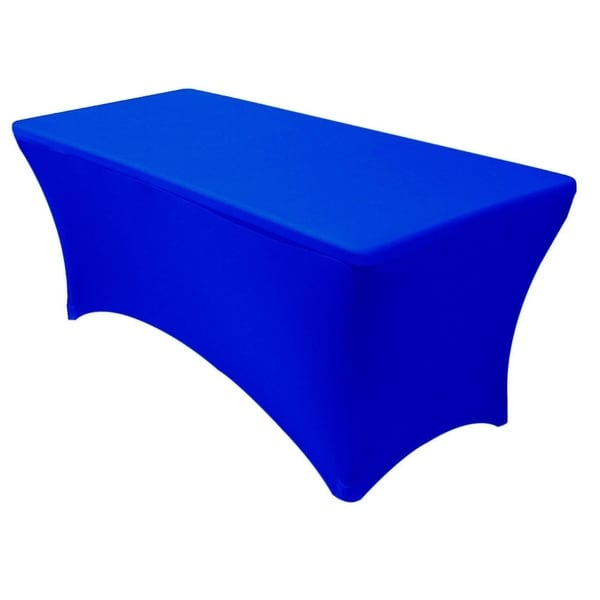 "Stretch Spandex Rectangular Tablecloths 6 Foot (72"" x 30"") Royal Blue"