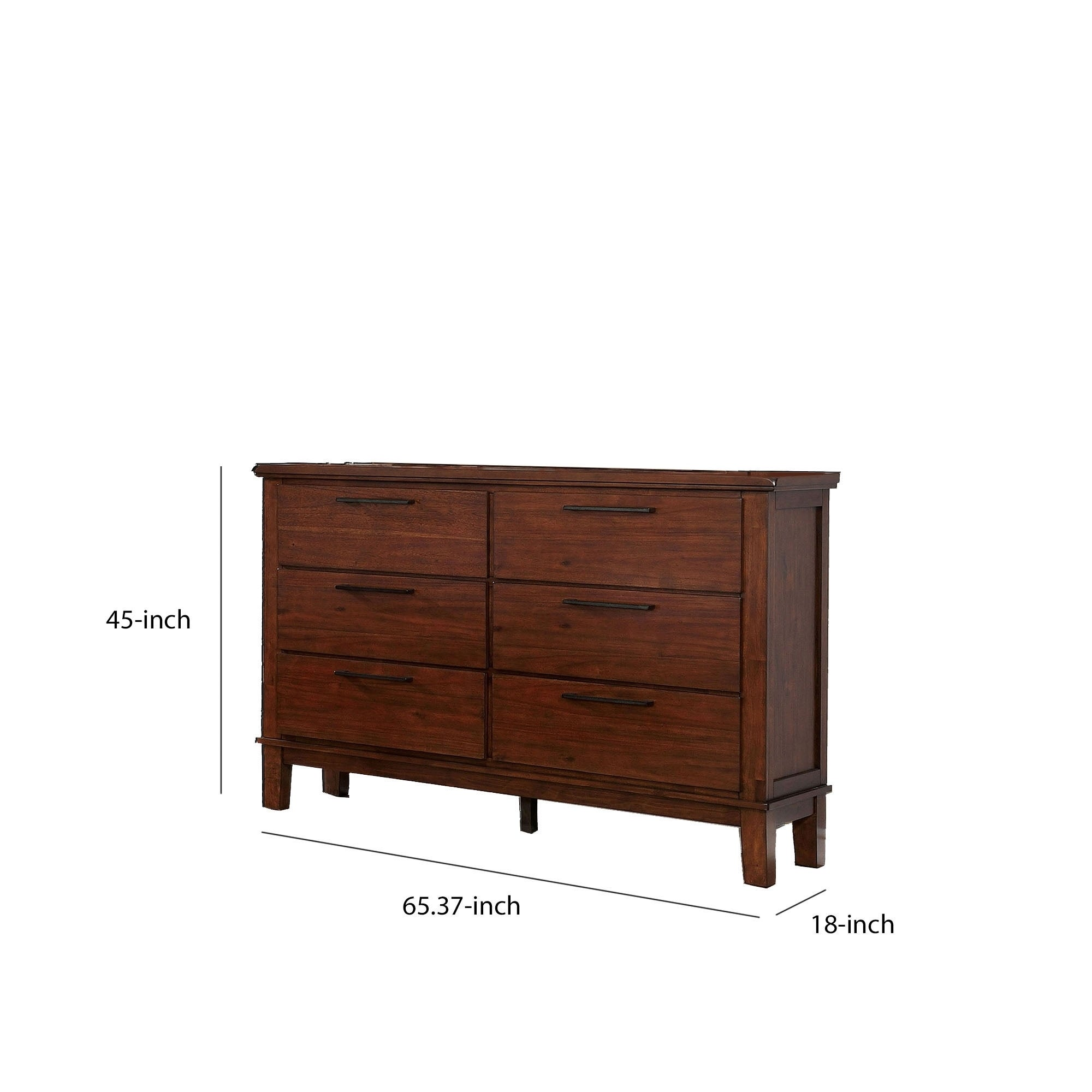 Picture of: Shop Wood And Metal Dresser With 6 Drawers Cherry Brown And Black Overstock 29800493