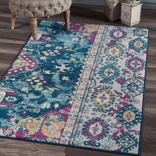 """Morrocan Area Rugs 3'9""""x 6 with Tufting Carpets Rugs - 3'9"""" x 6'"""