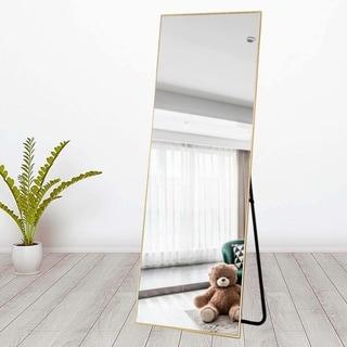 Carson Carrington Paaskynen Aluminum Alloy Thin Frame Full Length Floor Mirror