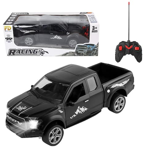 Remote Control Trucks 1: 12 Scale Off Road Vehicle 2WD Pick Up Truck with Lights and Sounds, Powerful RC Truck for Kids
