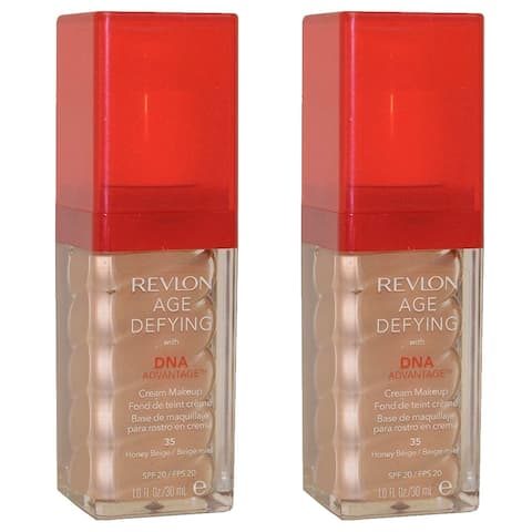 (2 Pack) Revlon Age Defying with DNA Advantage Makeup,Foundation,Honey Beige
