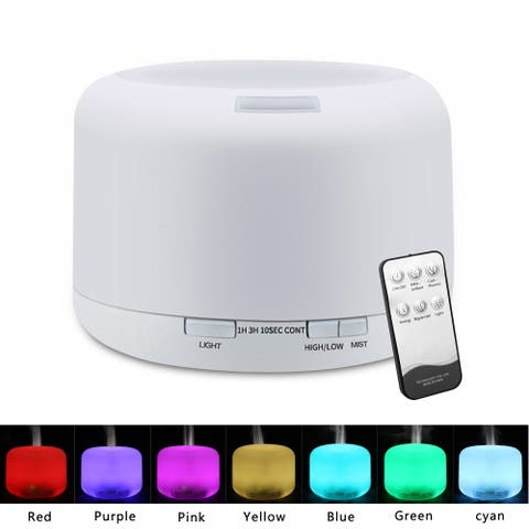 Essential Oil Diffuser, 500ml Aroma Essential Oil Cool Mist Humidifier - N/A