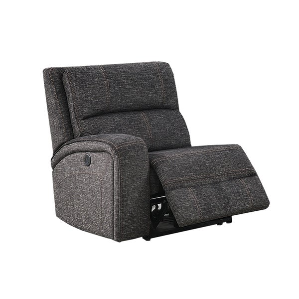 Fabric Upholstered Right Arm Facing Power Recliner Chair, Gray