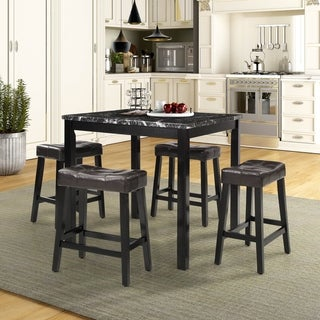 5-Piece Counter-Height Dining Set, Black