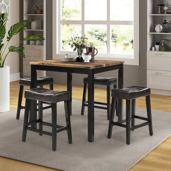 5-Piece Counter-Height Dining Set, Brown