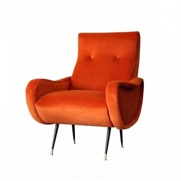 Orange Accent Chair For Around 50: Shop Divani Casa Saline Modern Orange Fabric Accent Chair