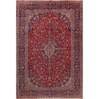 """Traditional Kashan Oriental Hand Knotted Wool Persian Area Rug - 11'8"""" X 8'0"""""""