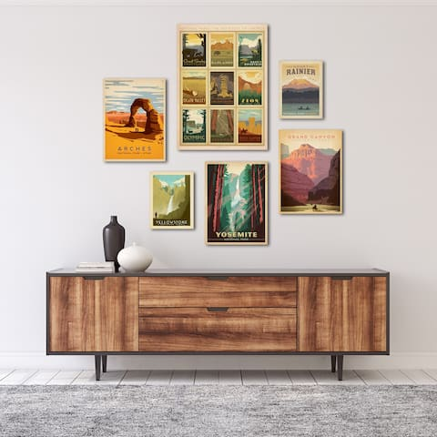 U.S. National Parks by Anderson Design Group Canvas Art Set