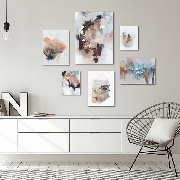 Contemporary Abstract Blush Tones Canvas Art Set
