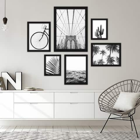 Black & White Photography Framed Gallery Wall Set