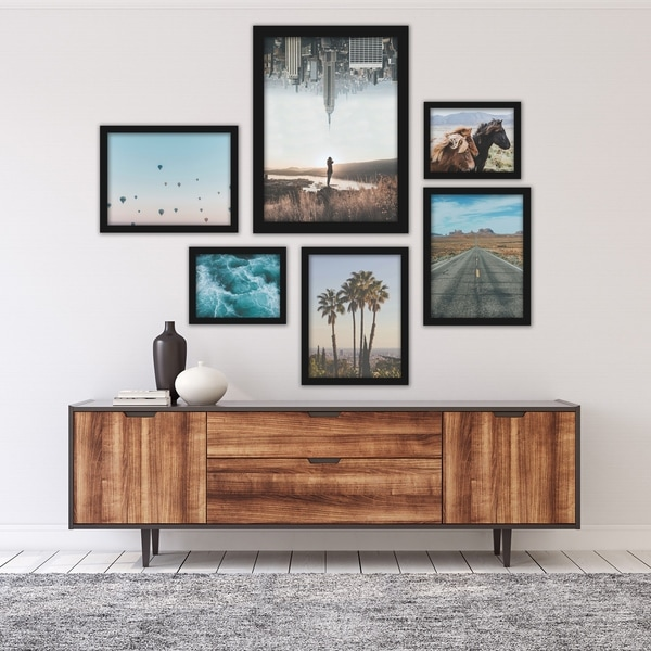 City and Country Wanderlust Photography Framed Art Set