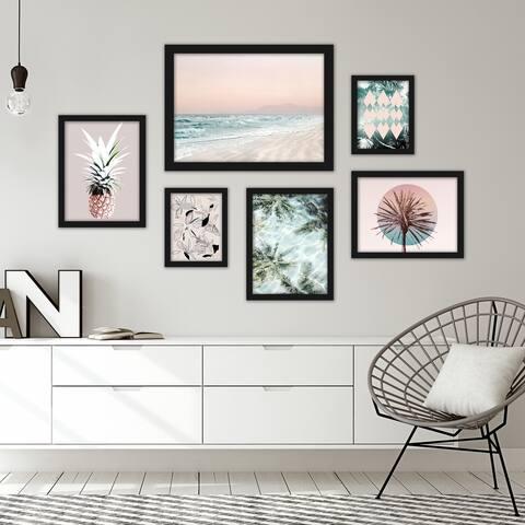 Tropical Beach Framed Gallery Wall Set