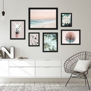 Link to Tropical Beach Framed Gallery Wall Set Similar Items in Art Prints