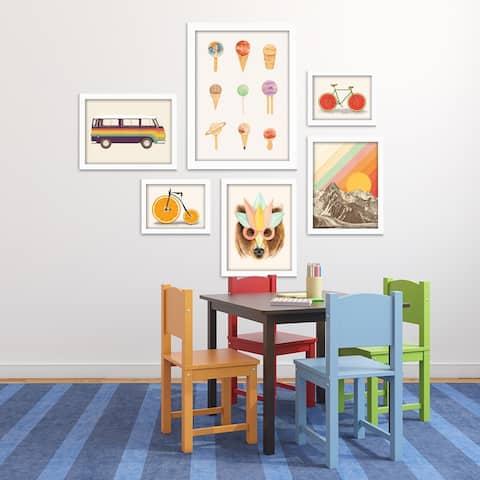 Fun & Funky Children's Framed Art Set