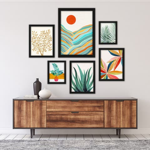 Modern Tropical Framed Gallery Wall Set
