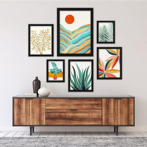 Modern Tropical Framed Gallery Wall Set