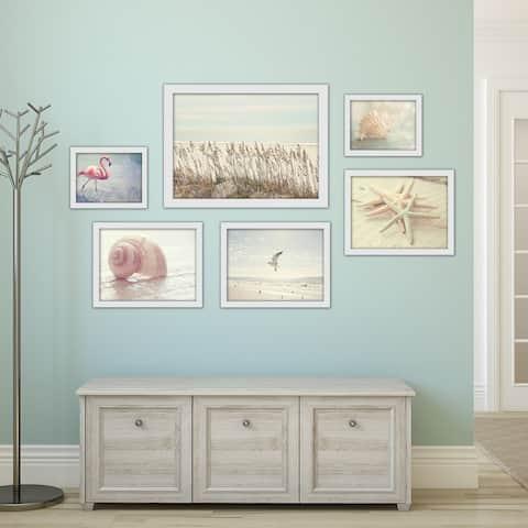 Coastal Beach House Framed Photography Art Set
