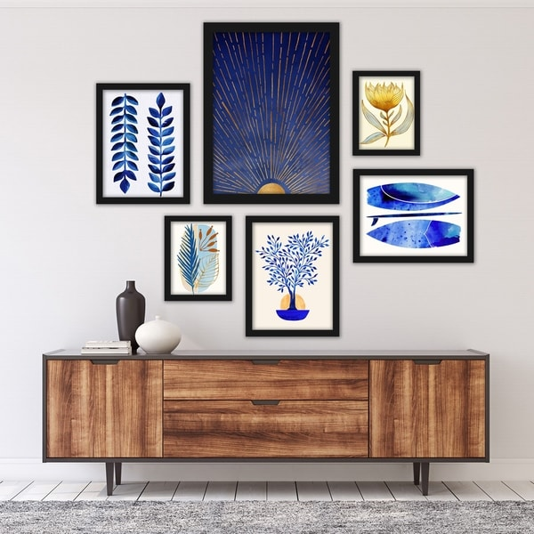 Modern Tropical Framed Gallery Wall Set. Opens flyout.